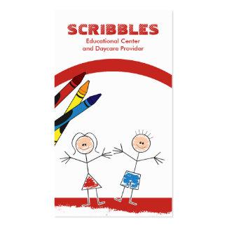 Cartão de visita Babysitting da puericultura da GU
