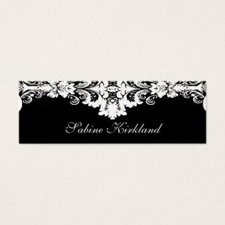 Cartão de visita barroco elegante