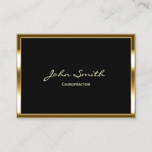 Cartão De Visita Beira profissional do ouro do Chiropractor