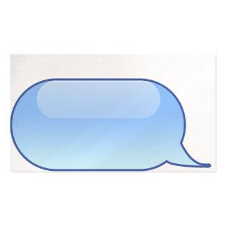 Cartão de visita - bolha móvel