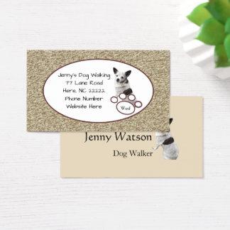 Cartão de visita bonito da chihuahua