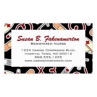 Cartão de visita bonito da enfermeira ou do cuidad