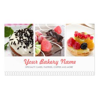 Cartão de visita bonito da padaria com 4 fotos
