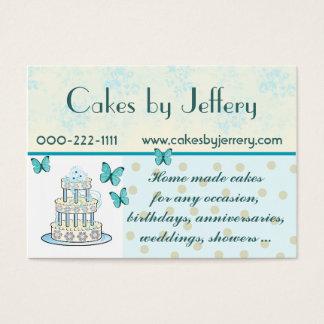 Cartão de visita bonito da padaria do bolo de