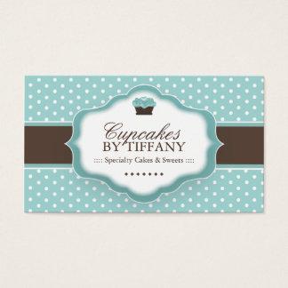 Cartão de visita bonito do cupcake
