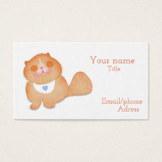 Cartão de visita bonito do gato