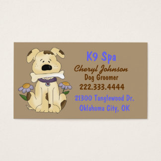 Cartão de visita bonito do Groomer do cão dos