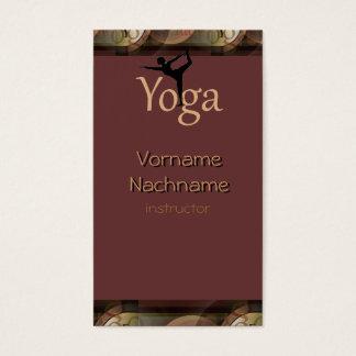 Cartão de visita bonito do instrutor da ioga