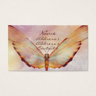 Cartão de visita bonito do Pastel da borboleta do