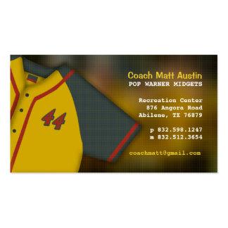 Cartão de visita bonito do treinador de basebol