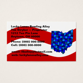 Cartão de visita branco & azul vermelho do estado