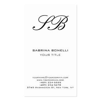 Cartão de visita branco da empresa de advocacia do