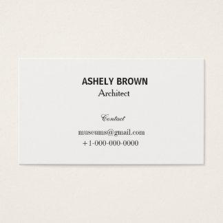 Cartão de visita branco de creme profissional