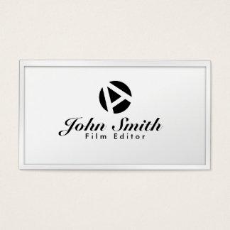 Cartão de visita branco do editor do filme do