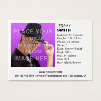 Cartão de visita branco do Headshot do fulgor da