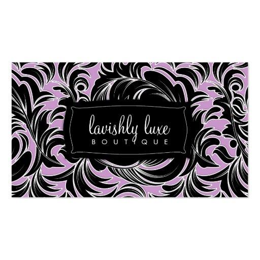 cartão de visita branco do Lilac da guarnição de 3