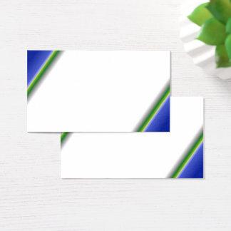 Cartão de visita branco do verde azul