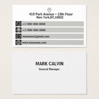 Cartão de visita branco e preto