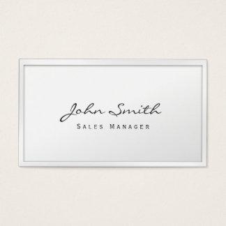 Cartão de visita branco elegante do gerente de
