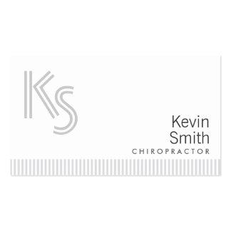Cartão de visita branco liso à moda do Chiropracto