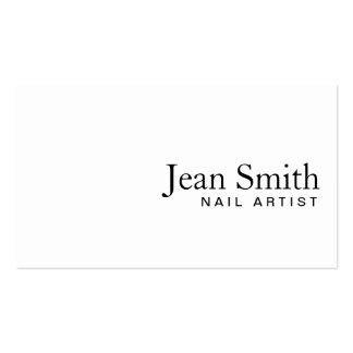 Cartão de visita branco liso simples do artista do