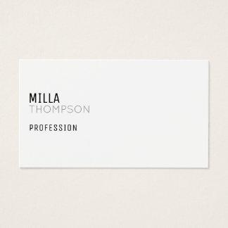 cartão de visita branco minimalista para alguma