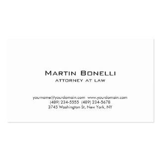 Cartão de visita branco minimalista simples
