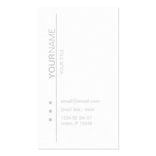 Cartão de visita branco moderno do opus