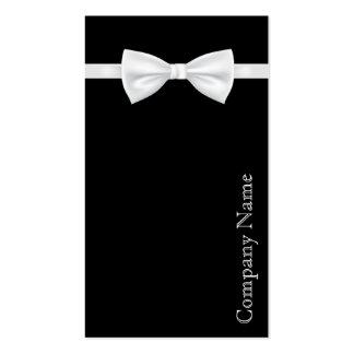 Cartão de visita branco preto elegante do desgaste