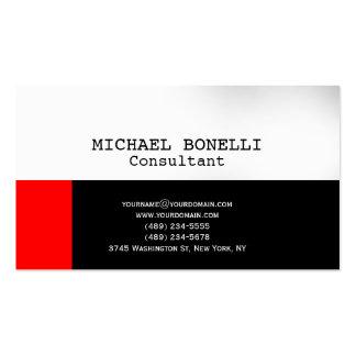 Cartão de visita branco preto original chique do c