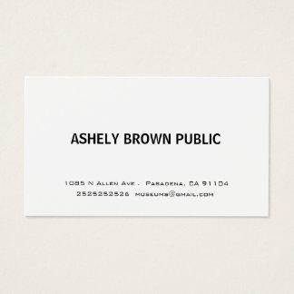 Cartão de visita branco simples moderno