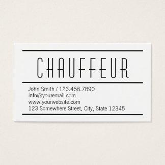 Cartão de visita branco simples moderno do