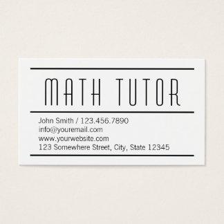 Cartão de visita branco simples moderno do tutor