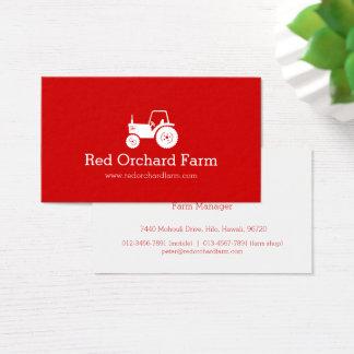 Cartão de visita branco vermelho profissional da