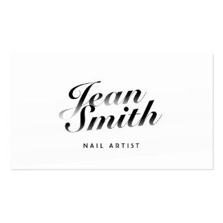 Cartão de visita caligráfico elegante da arte do p
