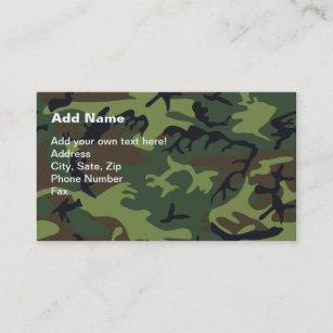 Cartão De Visita Camuflagem verde militar efe21ea20b5
