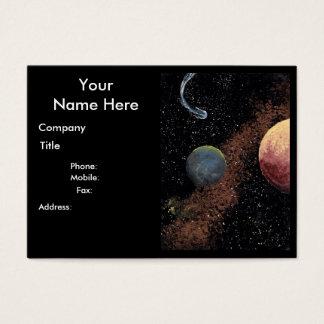 Cartão de visita carnudo B do tema do COMETA do ~