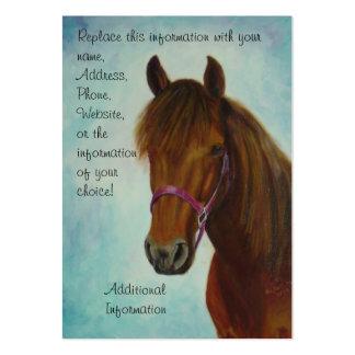 Cartão de visita carnudo, Chichi, uma égua de Paso