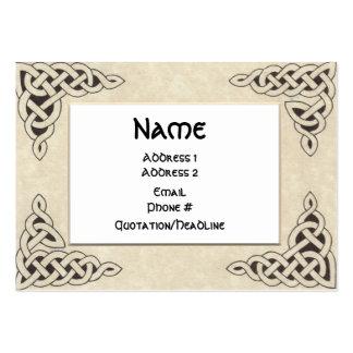 Cartão de visita carnudo do laço celta