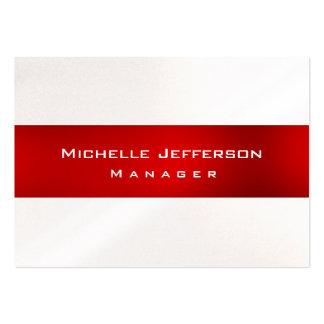 Cartão de visita carnudo original vermelho do gere