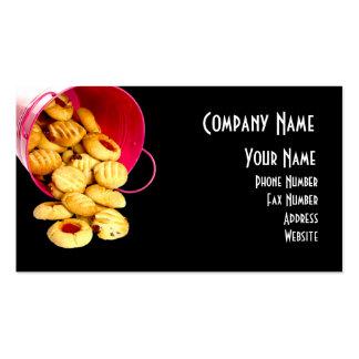 Cartão de visita caseiro dos biscoitos
