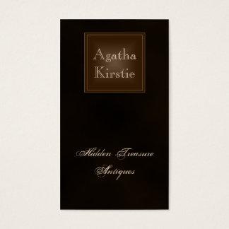 Cartão de visita castanho chocolate rico clássico