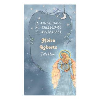 Cartão de visita celestial do anjo