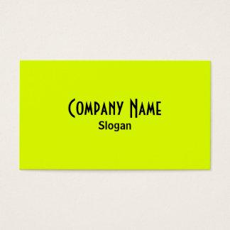 Cartão de visita Chartreuse & preto
