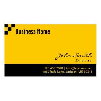 Cartão de visita Checkered do motorista do teste p