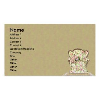 Cartão de visita chique da cadeira
