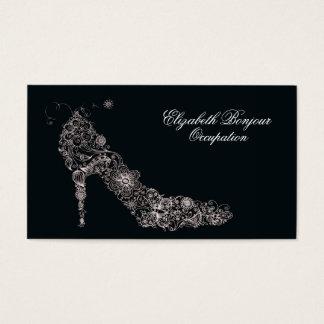 Cartão de visita chique do ~ dos calçados