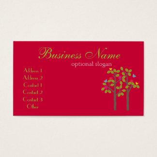 Cartão de visita chique do vermelho do boutique