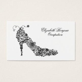 Cartão de visita chique dos calçados