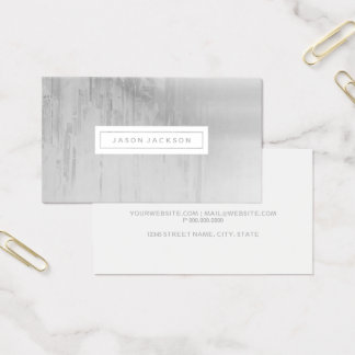 Cartão de visita - cinzas